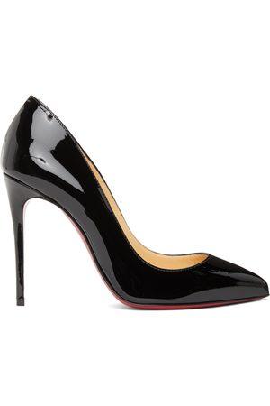 Christian Louboutin Black Patent Pigalle Follies 100 Heels