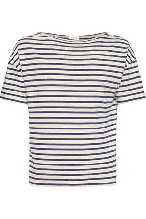 Saint Laurent T-shirt In Cotone A Righe