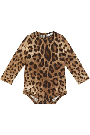 Dolce & Gabbana Baby - Body in cotone con stampa leopardata