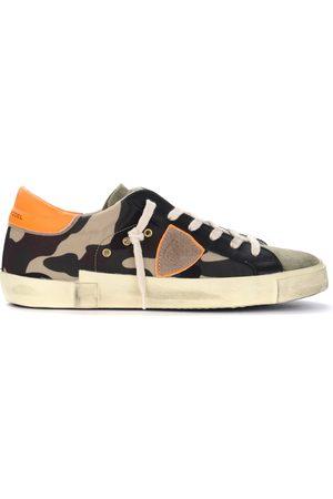 Philippe model Sneaker Paris X in tessuto camouflage con spoiler fluo