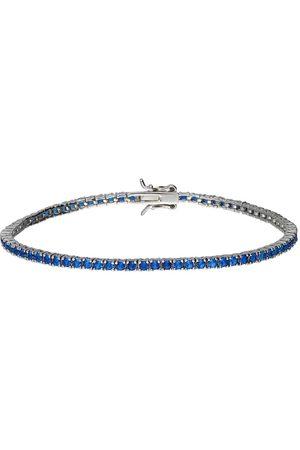 Stroili Oro Donna Bracciali - Bracciale tennis in argento con zirconi blu per Donna