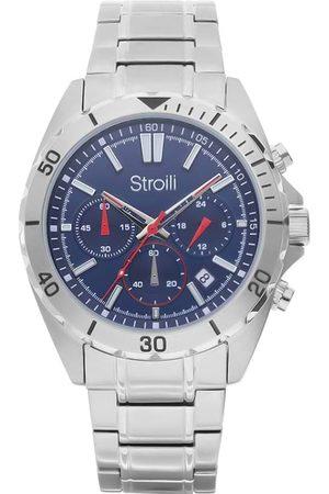 Stroili Oro Uomo Orologi - Orologio solo tempo linea Melbourne con cinturino argento e cassa blu per Uomo