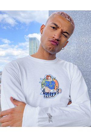 Huf Uomo T-shirt a maniche lunghe - X Street Fighter II - Chun-li - Top a maniche lunghe
