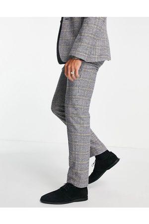 ASOS Pantaloni da abito slim in misto lana con stampa a quadri Principe di Galles