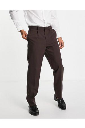 River Island Uomo Abiti eleganti - Pantaloni da abito comodi marroni