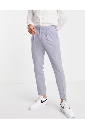 ASOS Uomo Abiti eleganti - Pantaloni da abito affusolati a spina di pesce piccola, colore