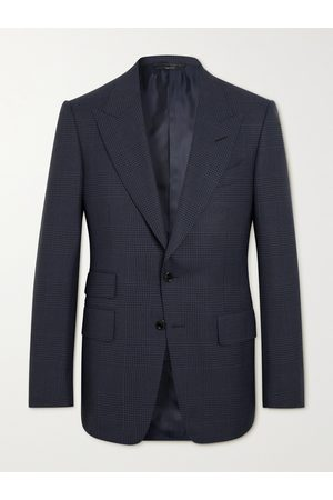 Tom Ford Uomo Giacche - Shelton Slim-Fit Prince of Wales Checked Wool and Silk-Blend Suit Jacket