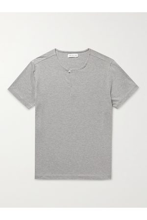 Hamilton And Hare Uomo Magliette intime - Stretch Lyocell and Cotton-Blend Henley Pyjama T-Shirt