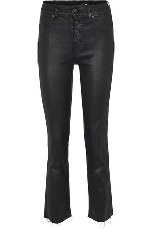 7 for all Mankind Jeans The Straight Crop a vita alta
