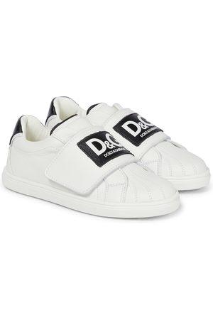 Dolce & Gabbana Sneakers in pelle con logo