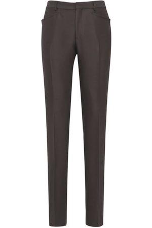 Tom Ford Pantaloni In Gabardina Di Misto Lana 18cm