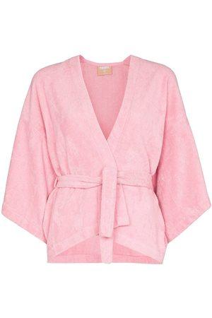 TERRY Top Il Pareo Kimono a portafoglio