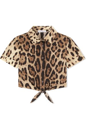 Dolce & Gabbana Bambina Camicie - Camicia leopardata