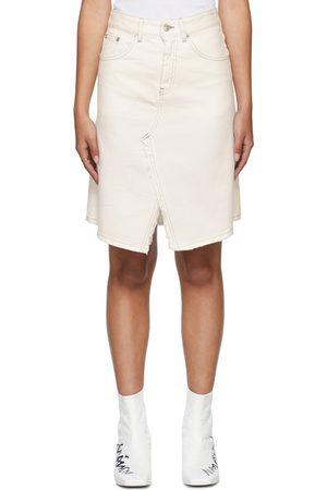 MM6 MAISON MARGIELA Donna Gonne denim - Off-White Denim A-Line Skirt