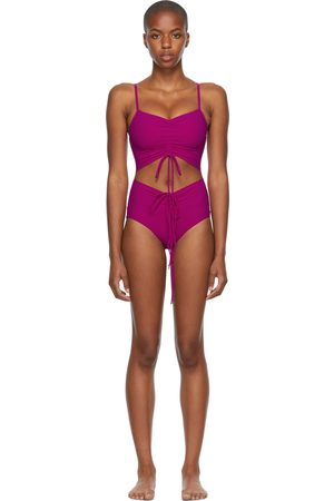 CHRISTOPHER ESBER Pink Ruched Disconnect One-Piece Swimsuit