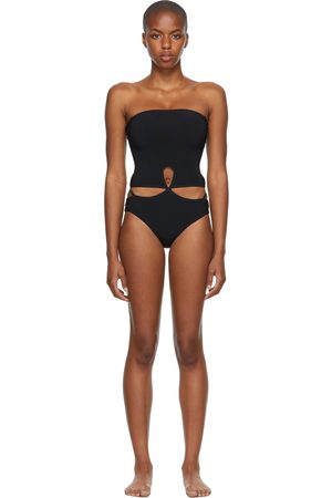 Christopher Esber Looped Adjustable Strapless One-Piece Swimsuit