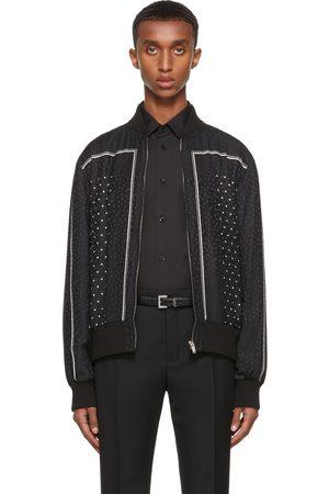Saint Laurent Black Monogram Teddy Bomber Jacket