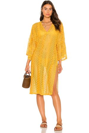 House of Harlow X Sofia Richie Grivas Caftan in - Yellow. Size L (also in XXS, XS, S, M, XL).
