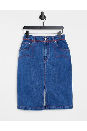 House of Holland Gonna di jeans stile western