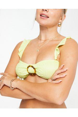 South Beach Top bikini a fascia con volant