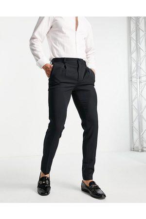 ASOS DESIGN Uomo Chinos - Pantaloni eleganti super skinny neri