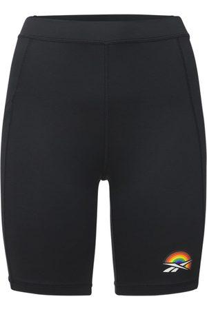 REEBOK CLASSICS Donna Pantaloncini - Shorts Biker Vita Alta Pride