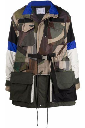 SACAI Uomo Parka - Cappotto con stampa camouflage