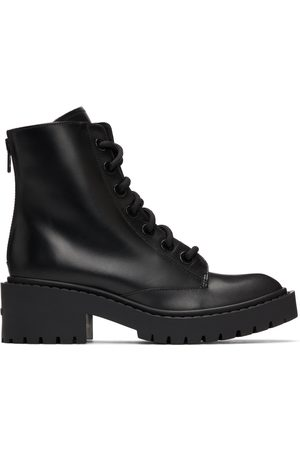 Kenzo Donna Stivali - Black Pike Lace-Up Boots