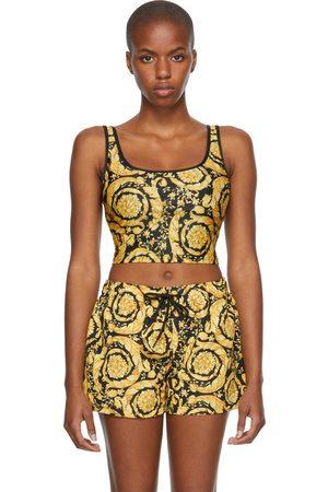 VERSACE Donna Bikini - Black & Gold Baroque Bikini Top