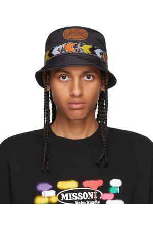 Palm Angels Uomo Cappelli - Black & Multicolor Missoni Edition Heritage Bucket Hat