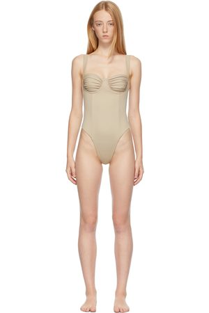 Belle The Label Beige 'The Vision' One-Piece Swimsuit