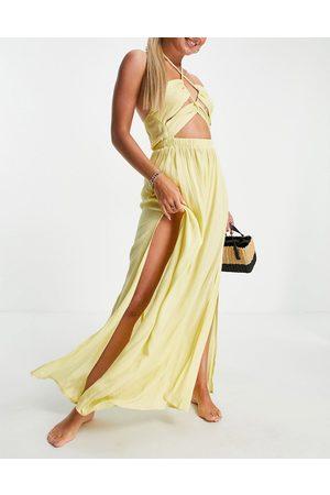 ASOS Donna Vestiti lunghi - Vestito da mare lungo con cut-out