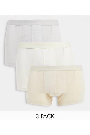 ASOS Confezione da 3 boxer aderenti in modal beige misto