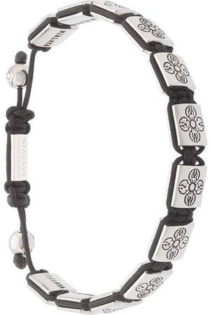 Nialaya Uomo Bracciali - Braccialetto con perline - Effetto metallizzato