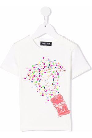 Versace Kids Bambina T-shirt - T-shirt Medusa con stampa