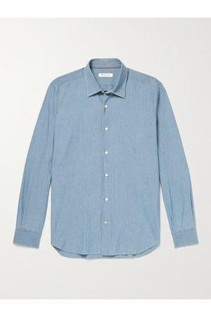 Loro Piana Arthur Preston Cotton-Chambray Shirt