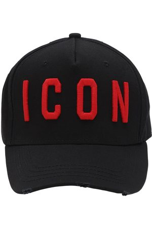 """DSQUARED2 Cappello Baseball """"icon"""" In Tela Di Cotone"""