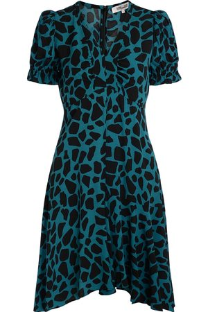 Diane von Furstenberg Donna Vestiti - Abito Alexis ottanio con stampa giraffa