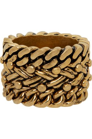 Dsquared2 Gold Ba'N Rope Ring