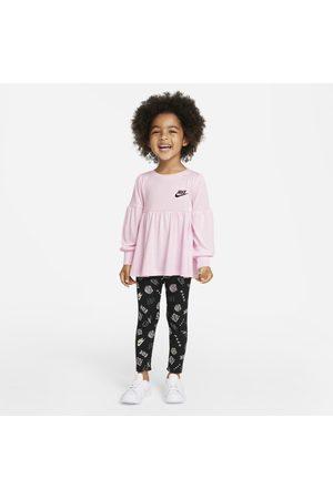 Nike Bambina T-shirt sportive - Completo con leggings e maglia - Bimbi piccoli
