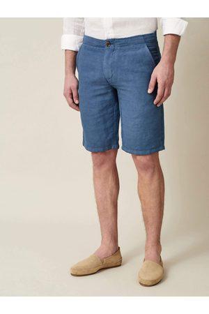 Luca Faloni Shorts Panarea capri in lino-cotone