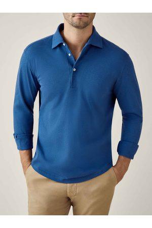 Luca Faloni Polo Shirt Brera royal in cotone piquet