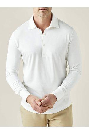 Luca Faloni Polo Shirt Amalfi bianco in seta-cotone