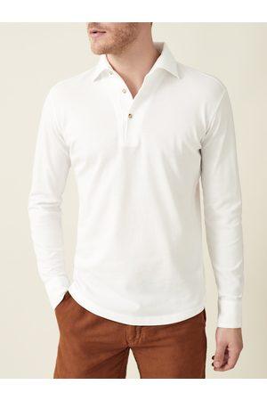 Luca Faloni Polo Shirt Brera bianca in cotone piquet