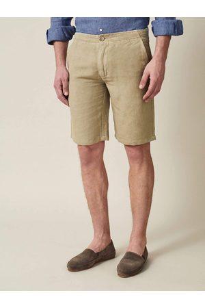 Luca Faloni Shorts Panarea sabbia in lino-cotone