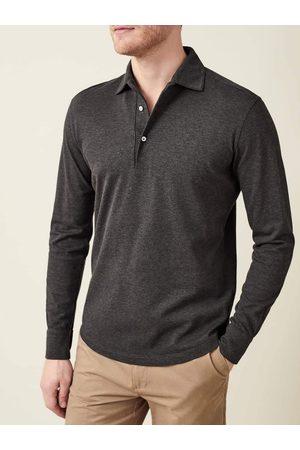 Luca Faloni Polo Shirt scuro in cotone piquet