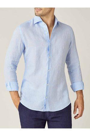 Luca Faloni Camicia Portofino azzurra in lino