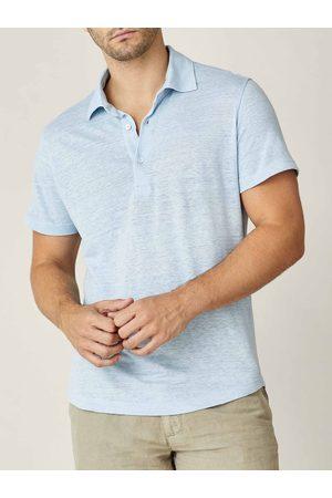 Luca Faloni Polo azzurra in jersey di lino