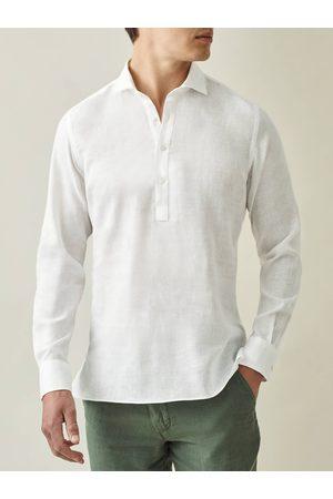Luca Faloni Uomo Camicie - Camicia Ravello bianca in lino