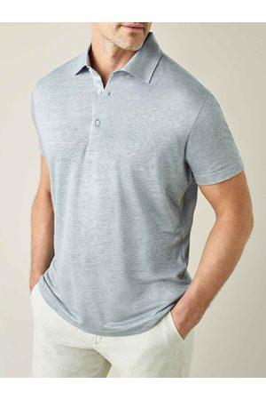 Luca Faloni Polo marino in jersey di lino